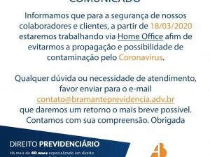 Bramante Comunicado Covid19